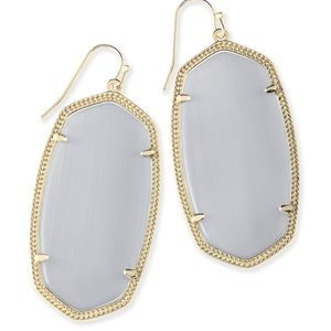Kendra Scott Danielle Earrings in Gold/Gray EUC